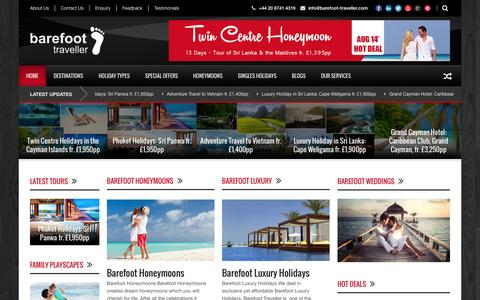 Screenshot of Home Page Terms Page barefoot-traveller.com - Tailor-made holidays to your Dream Destinations - captured Sept. 30, 2014