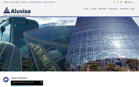 Screenshot of Home Page aluvisa.com - Aluvisa - Fachadas Arquitectónicas - captured Dec. 24, 2015