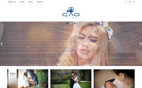 Screenshot of Home Page caofilms.com - Cao Films - It's more than a moovie - captured July 18, 2015