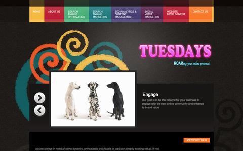Screenshot of Jobs Page tuesdayscorp.com - Careers «  Tuesdays - captured Sept. 30, 2014