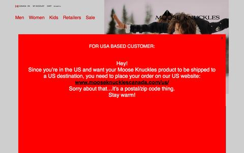 Screenshot of Home Page mooseknucklescanada.com - Moose Knuckles | Shop Winter Jackets, Parkas, Bombers and More - captured Dec. 12, 2016