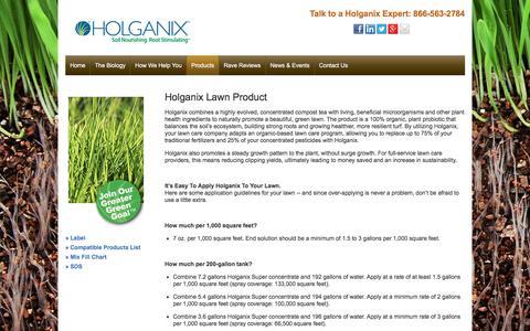 Screenshot of holganix.com - Lawn - captured March 19, 2016