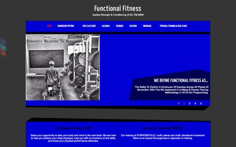Screenshot of Home Page functionalfitnesscleveland.com - Functional Fitness - captured Oct. 6, 2014