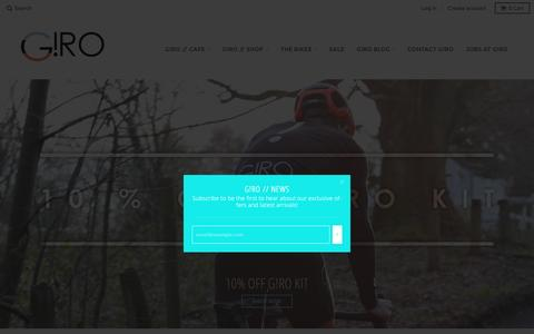 Screenshot of Home Page girocycles.com - COFFEE | CYCLE | CULTURE – G!RO Cycles - captured Jan. 3, 2017