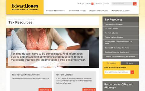 Tax Resources | Edward Jones