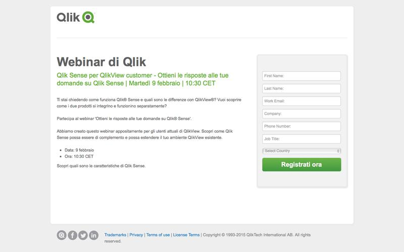 Qlik - Prossimo webinar: Ottieni le risposte alle tue domande su Qlik Sense -