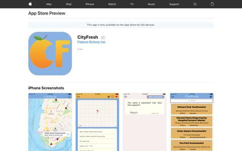 CityFresh on the AppStore