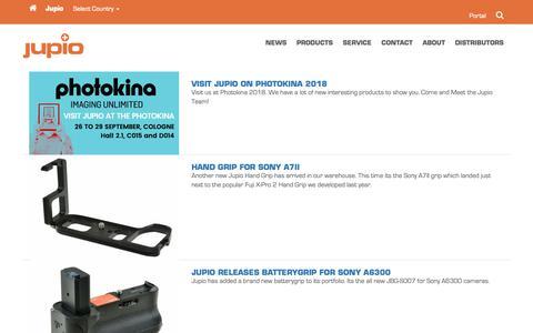 Screenshot of Press Page jupio.com - News – jupio.com - captured Oct. 14, 2018