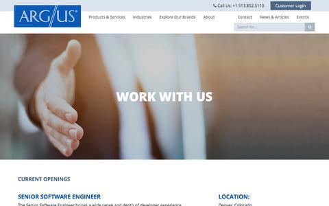 Screenshot of Jobs Page argus.aero - Careers - Argus International - captured July 28, 2018
