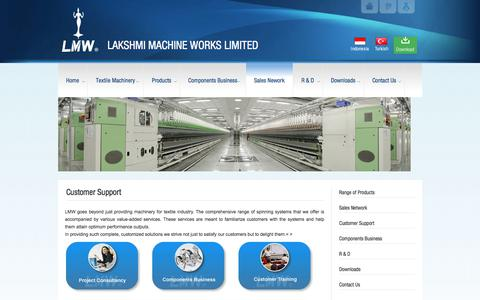 Screenshot of Support Page lakshmimach.com - Customer Support - LAKSHMI MACHINE WORKS LIMITEDLAKSHMI MACHINE WORKS LIMITED - captured July 13, 2017