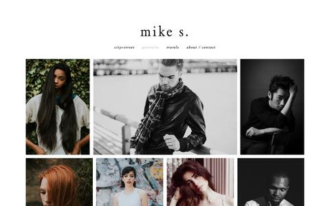 Screenshot of Team Page mikesteinmetz.com - Portraits - MIKE S. - captured March 9, 2018