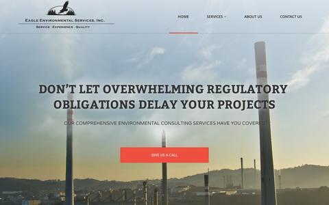 Screenshot of Home Page eaglered.com - Environmental Consulting, Fugitive Monitoring (LDAR), Ambient Air Monitoring - Baton Rouge, Shreveport, Pensacola   Eagle Environmental Services, Inc. - captured Jan. 24, 2016