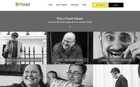 Screenshot of Team Page pockit.com - Pockit - Award Winning Online Account & Prepaid Card - Only 99p - captured July 3, 2016