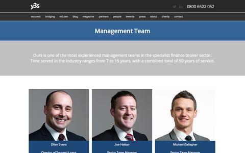 Screenshot of Team Page y3sloans.com - Y3S Group | Secured Loans | Bridging Loans | Debt Management - captured Oct. 3, 2014