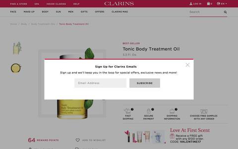 Tonic Body Treatment Oil - pregnancy - Clarins