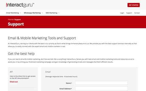 Screenshot of Support Page interactguru.com - InteractGuru Support   Benefits Of Email Marketing   Email Marketing Software       Best Email Marketing Services - captured Sept. 30, 2014