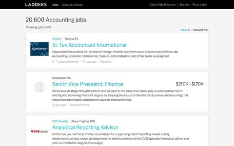 Jobs in Accounting | Ladders