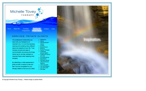 Screenshot of Services Page michelletoveytherapy.co.uk - Michelle Tovey Therapy - private practitioner in counselling and therapy services in Bristol and the Clifton area. - captured Jan. 10, 2016
