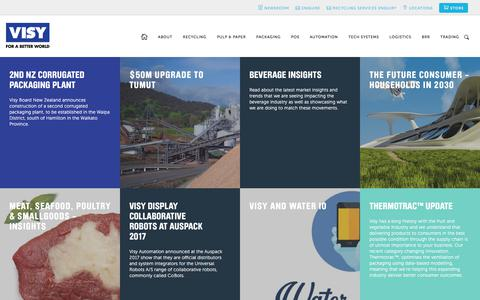 Screenshot of Press Page visy.com.au - Newsroom — Visy - For a better World - captured June 3, 2017