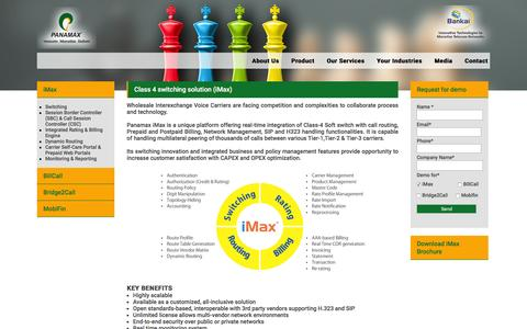 Screenshot of Products Page panamaxil.com - Class 4 switching solution (iMax) | Panamaxil - captured Jan. 25, 2016