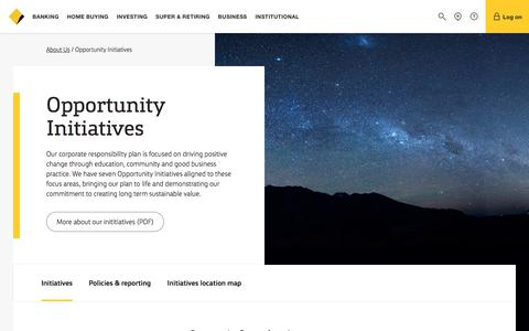 Opportunity Initiatives - CommBank
