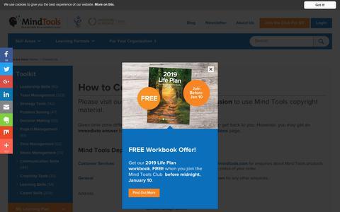 Screenshot of Contact Page mindtools.com - Contact Mind Tools - captured Dec. 31, 2018