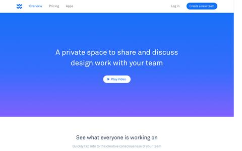 Screenshot of Home Page wake.io - Wake: Design Sharing for Teams - captured Nov. 25, 2015
