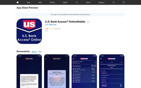 U.S. Bank Access® OnlineMobile on the AppStore