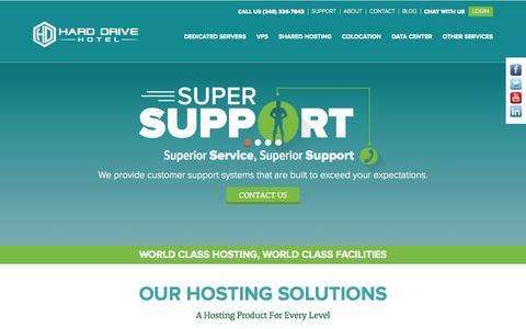 Screenshot of Home Page harddrivehotel.com - HardDriveHotel | Home to the best hosting - captured Jan. 26, 2015