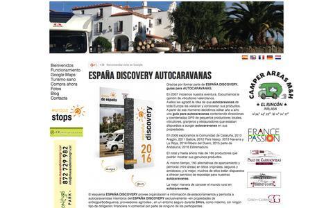 Screenshot of Home Page espana-discovery.es - Espana-Discovery | Home - captured June 2, 2016