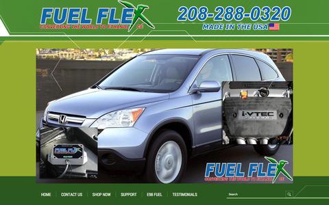 Screenshot of Contact Page fuelflexinternational.com - E85 conversion kits - e85 kits - ALCOHOL FUEL CONVERSION KITS - FLEX FUEL CONVERSIONS - Fuel Flex International, Full Flex International - Full Flex Gold and ECO Flex Platinum USA Distributor flex fuel - Pulstar pulse Spark Plugs - FLEX COMBUSTIBLE - captured June 6, 2017
