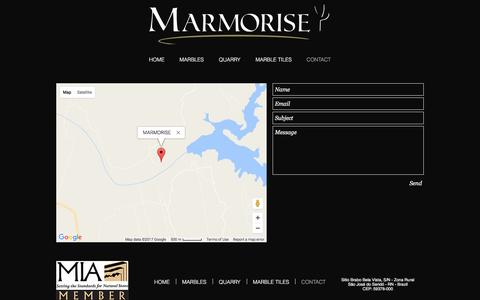 Screenshot of Contact Page marmorise.com - CONTACT - captured May 26, 2017