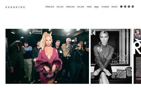 Screenshot of Press Page georgine.com - GEORGINE-PRESS - captured Dec. 6, 2015