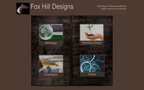 Screenshot of Home Page foxhilldesigns.co.uk - Fox Hill Designs - captured Aug. 3, 2015