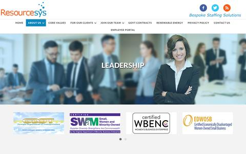 Screenshot of Team Page resourcesys.com - Leadership – Resourcesys - captured July 9, 2018