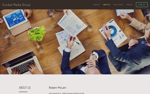Screenshot of Team Page sundialmediagroup.com - Team - Sundial Media Group - captured Aug. 4, 2015