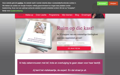 Screenshot of Home Page colourbusiness.nl - ColourBusiness - imago advies - kleurenanalyse - kledingstijl - captured July 20, 2018