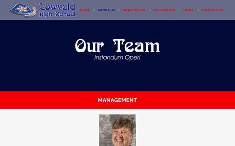Screenshot of Team Page lowveldhigh.org.za - Lowveld |   Management - captured July 5, 2018