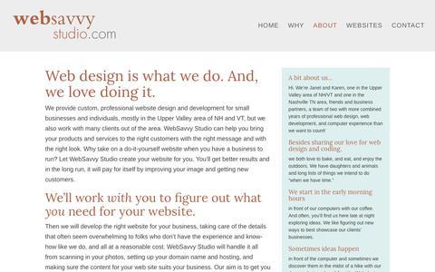 Screenshot of About Page websavvystudio.com - Professional Website Design & Development - captured Nov. 19, 2018