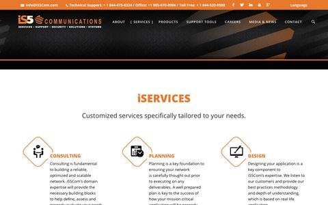 Screenshot of Services Page is5com.com - iSERVICES – is5 Communications - captured Oct. 13, 2018