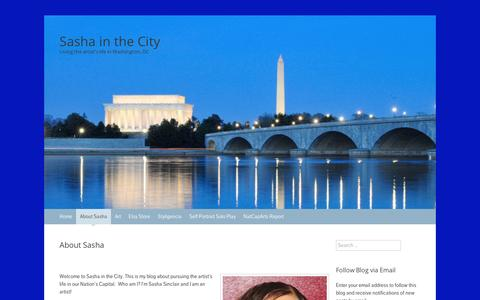 Screenshot of About Page wordpress.com - About Sasha | Sasha in the City - captured Sept. 12, 2014