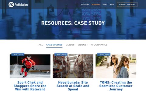 Screenshot of Case Studies Page reflektion.com - CASE STUDY Archives | Reflektion - captured Jan. 27, 2019