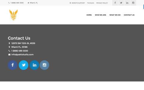 Screenshot of Contact Page paktolusits.com - Contact Us – Paktolus ITS - captured Oct. 18, 2016