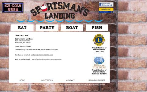 Screenshot of Contact Page sportsmanswindlake.com - Contact wind lake chamber commerce - captured Oct. 6, 2014