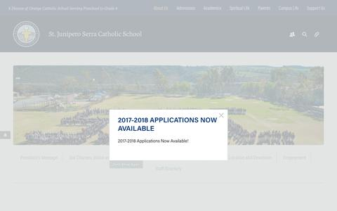Screenshot of About Page serraschool.org - About Us - Serra Catholic School - captured Dec. 3, 2016