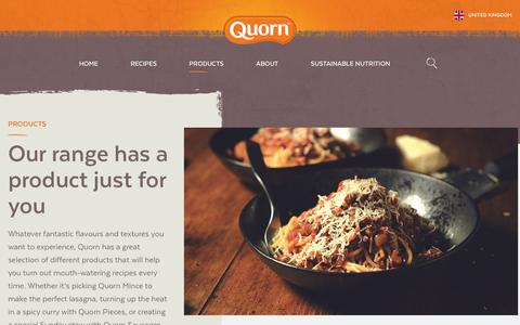Screenshot of Products Page quorn.co.uk - Quorn Products - Browse the Range for Healthier Options - captured June 29, 2017