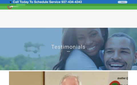 Screenshot of Testimonials Page a-abel.com - Testimonials A-Abel A Family of Services - captured Oct. 1, 2018