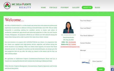 Screenshot of Contact Page cebubai.com - Cebu Realtor, Top Realty office in Cebu, Central Visayas, Philippines, | About Us | CEBUBAI - captured Oct. 3, 2014