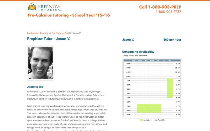 PrepNow | Pre-Calculus Tutoring