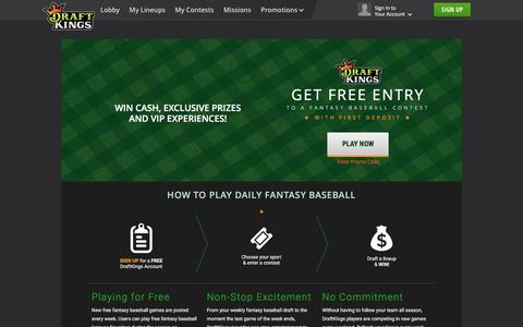 Play Fantasy Baseball on DraftKings